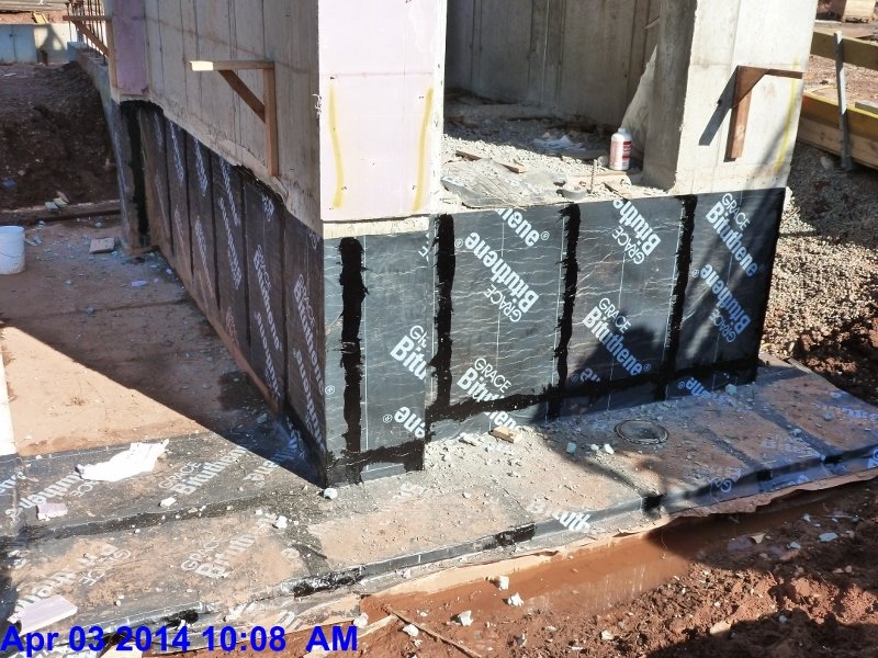 Waterproofing around Elevator pit walls Facing North-East