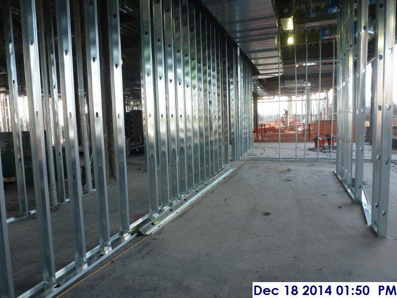 Interior metal framing Box Header Metal 4th Interior Metal Framing Facing West