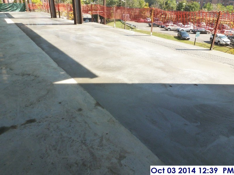 Poured the concrete slab on deck (2nd Floor) Facing East