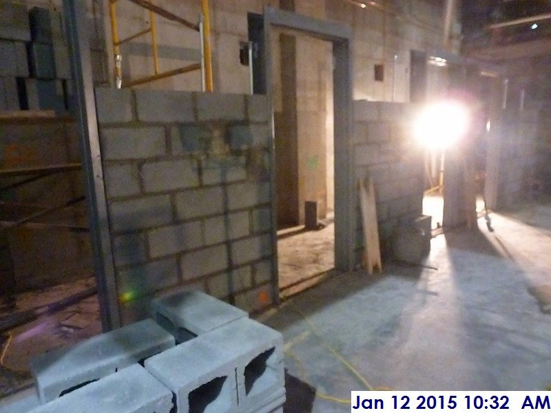 Laying Out Block At The 1st Floor Attorneys Room Facing East