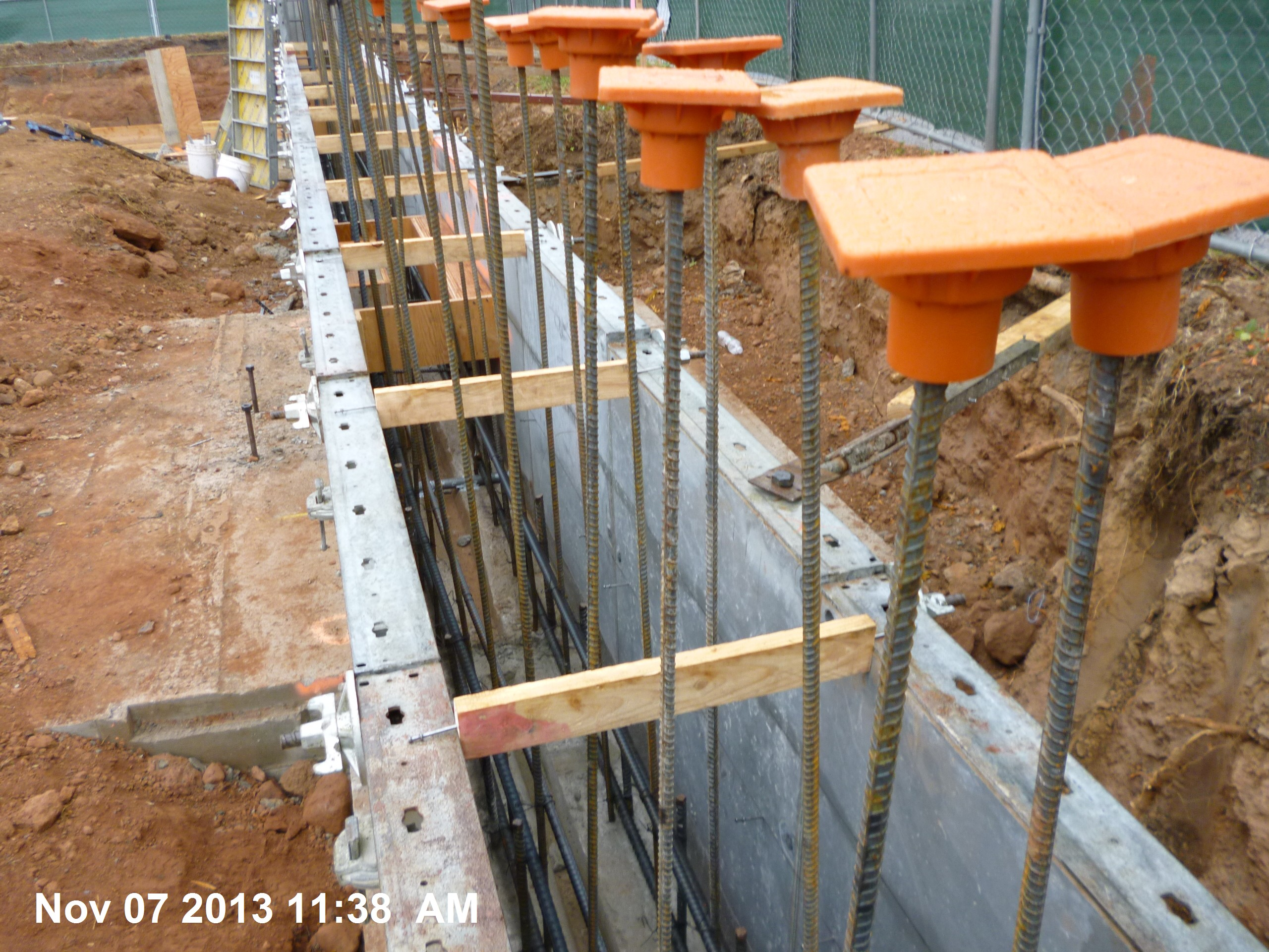 Concrete Form Spacers : Foundation wall rebar a to union county